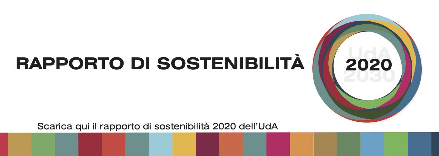 report, sostenibilità, UdA, 2020